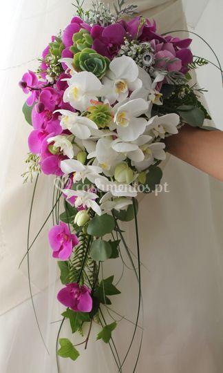 Bouquet em cascata