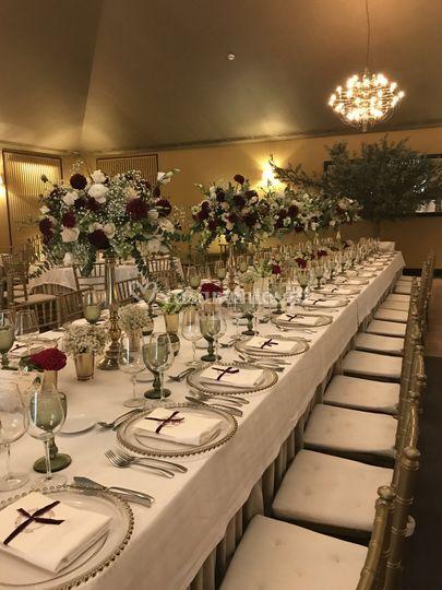 Mesa de noivos