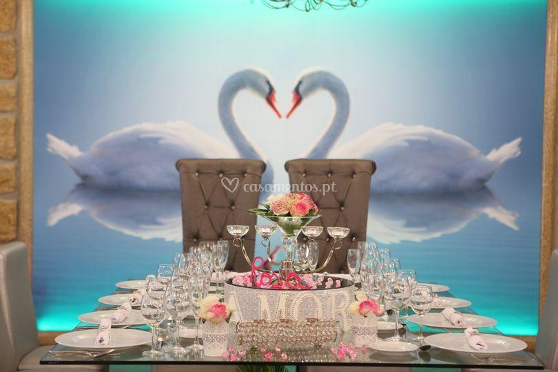 Mesa noivos e padrinhos