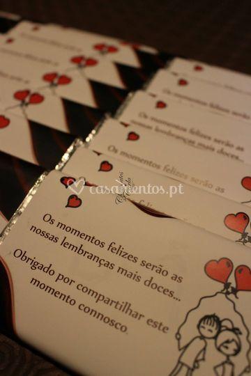 Convites em chocolate