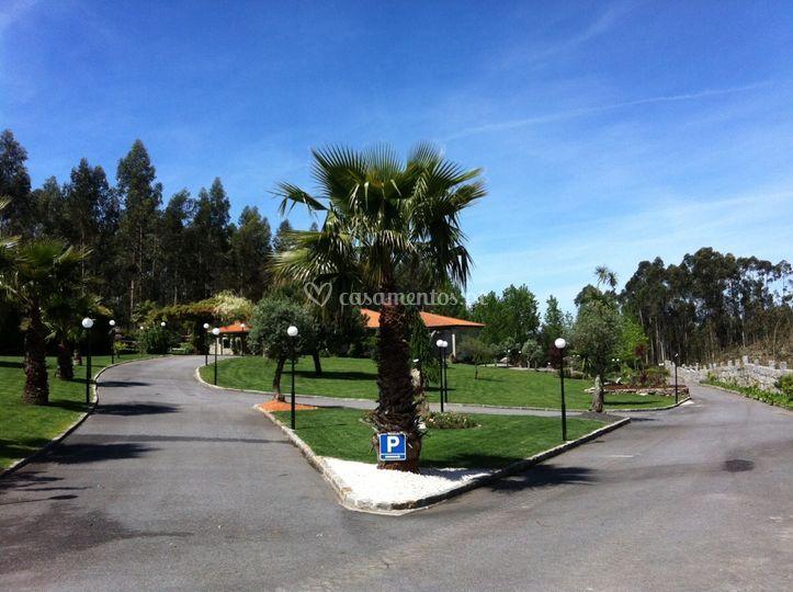 Vista da entrada na Quinta