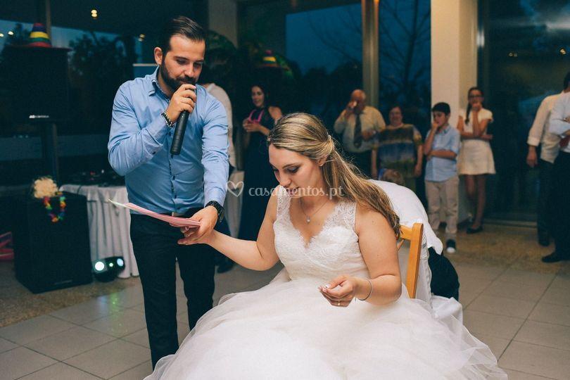 Jogos com os noivos
