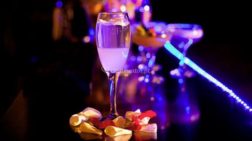 Serviço de champagne