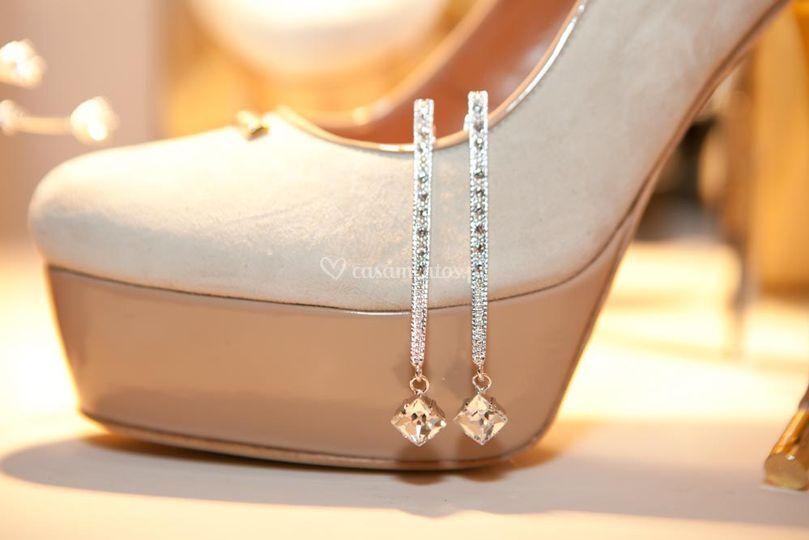 Sapato beje e nude para noiva