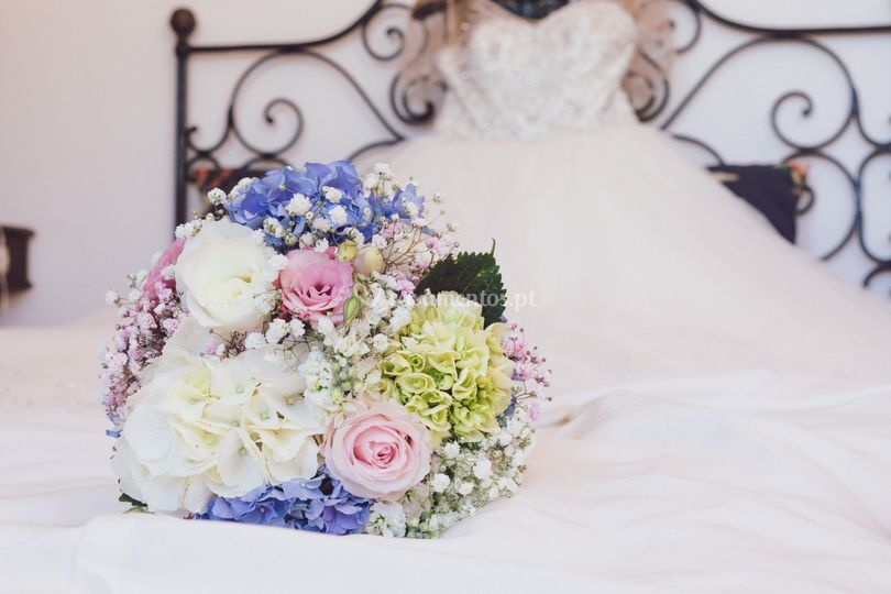Detalhe do ramo da noiva