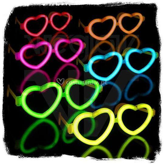 Óculos Glow Coração
