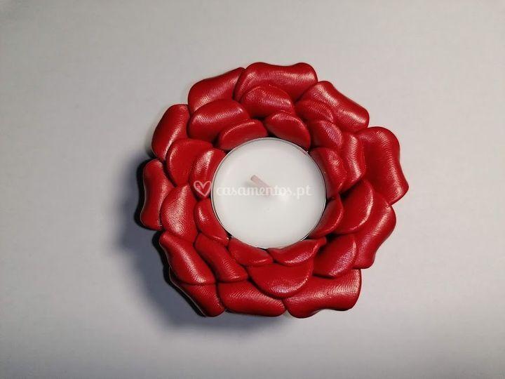 Vela rosa vermelha