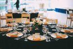 Decoração mesa azul e dourado