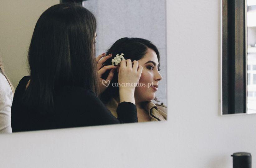 Maquilhagem e cabelo noiva