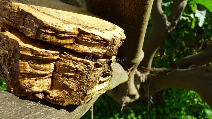 Caixa para alianças em madeira