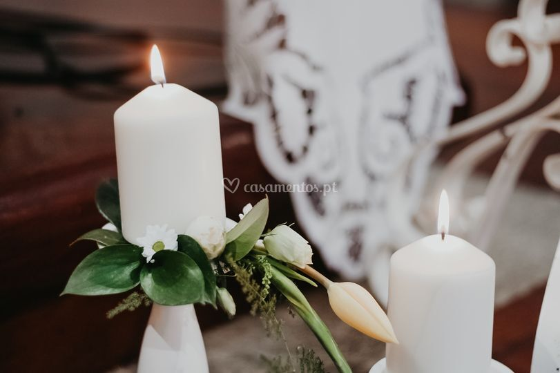 Decoração igreja velas