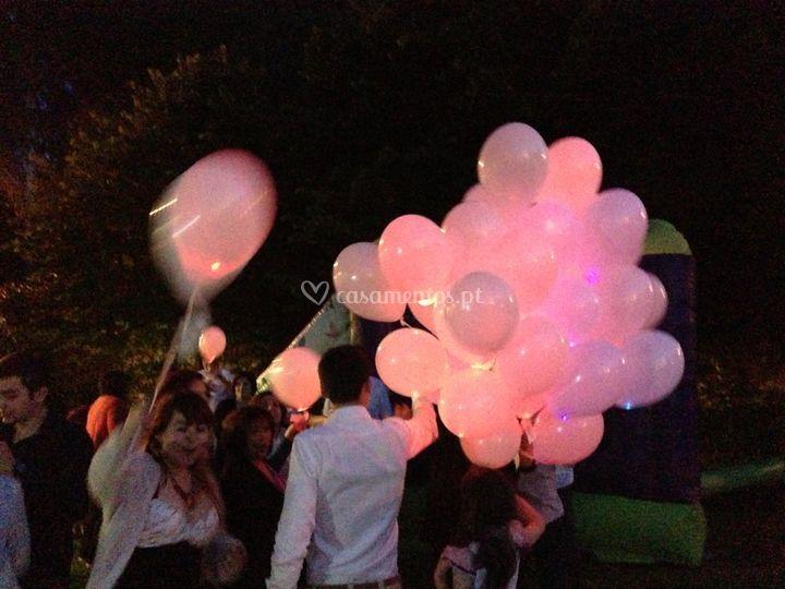 Balões leds