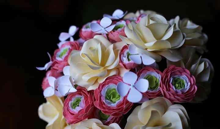 Bouquet de flores de papel.