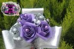 Bouquet rosas papel noiva