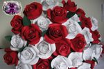 Bouquet rosas papel noiva
