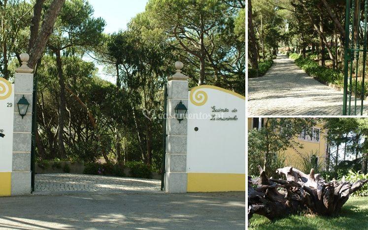 A entrada da Quinta