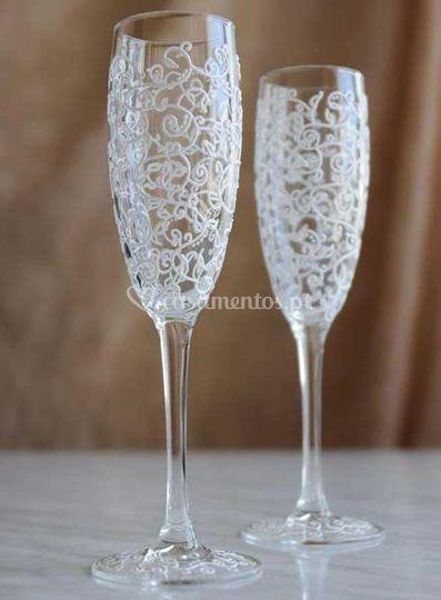 Flute de champagne vip
