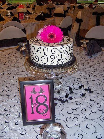 Centro de mesa-bolos