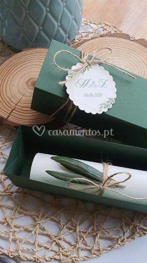 Caixinha oliva