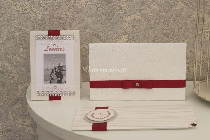 Convites e marcador de mesa