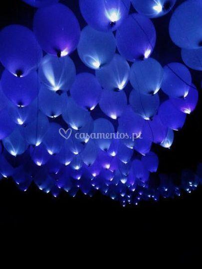 Balões com leds casamentos