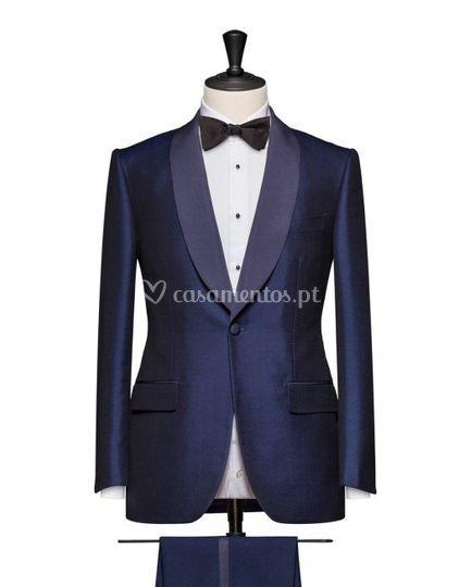 Blue Tux Shawl