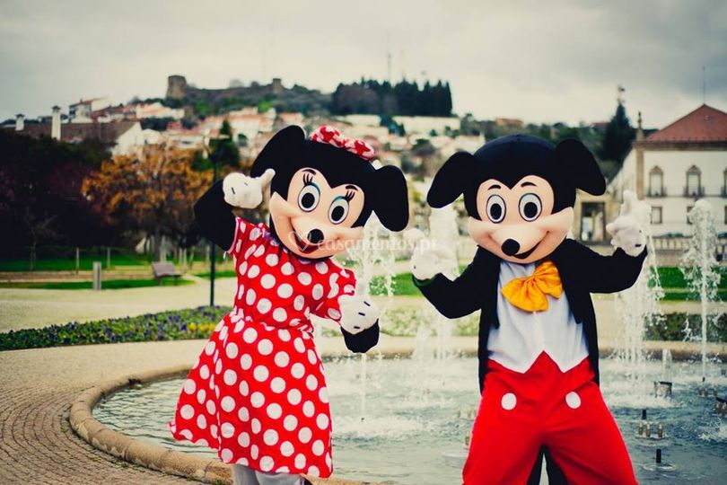 Mascote mickey e minnie