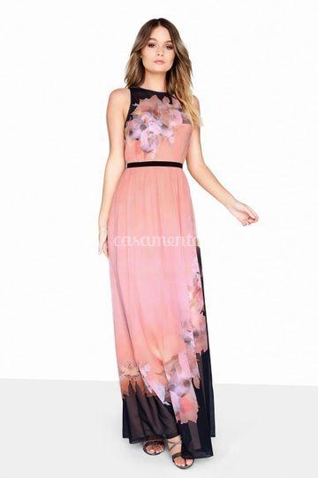 Vestido com padrão floral