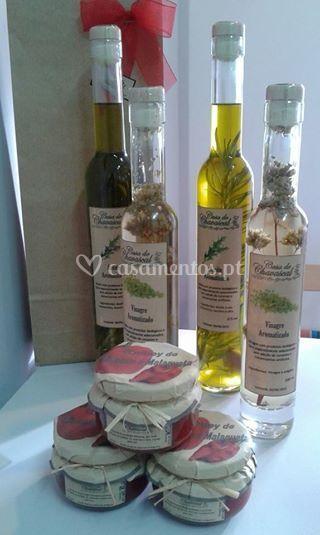 Azeite e vinagre aromatizados