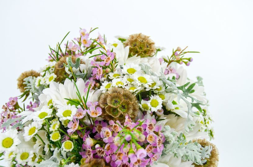 Bouquet campestre em pormenor