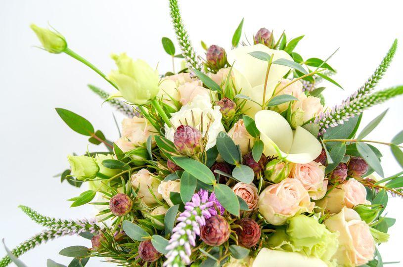 Bouquet em pormenor