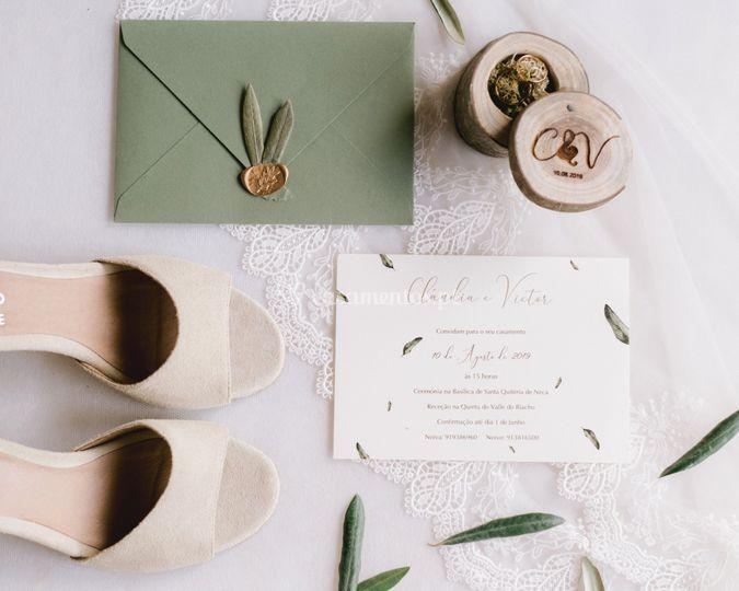 Detalhes de noiva