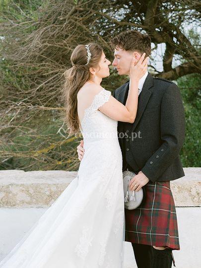 Noivo escocês