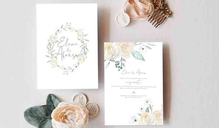 Envelope +  convite {RosaLeve}