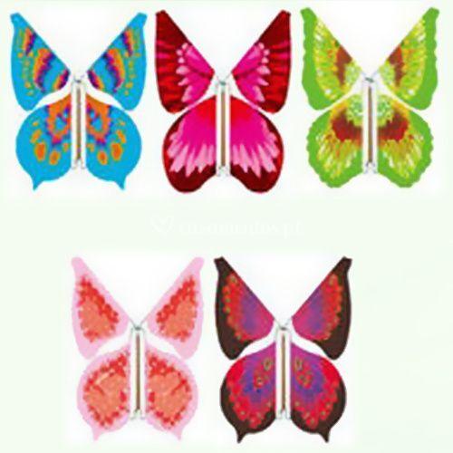 Borboletas padrão flor