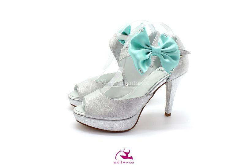 Sapato Prata Glitter Com Tira Salto 12 Noiva Madrinha