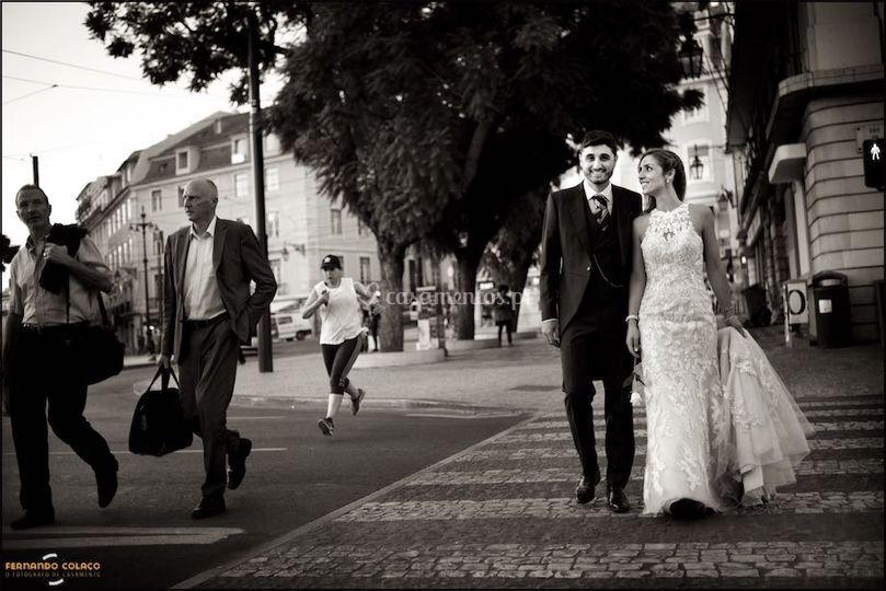Num casamento