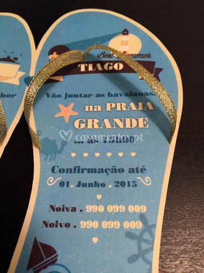 Convite com tema Praia