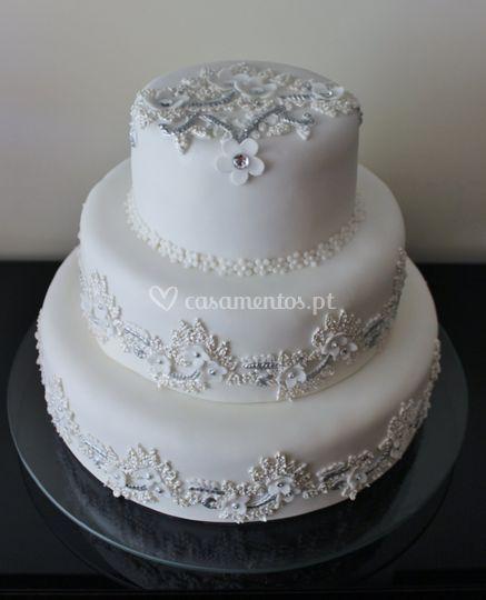 Renda vestido da noiva