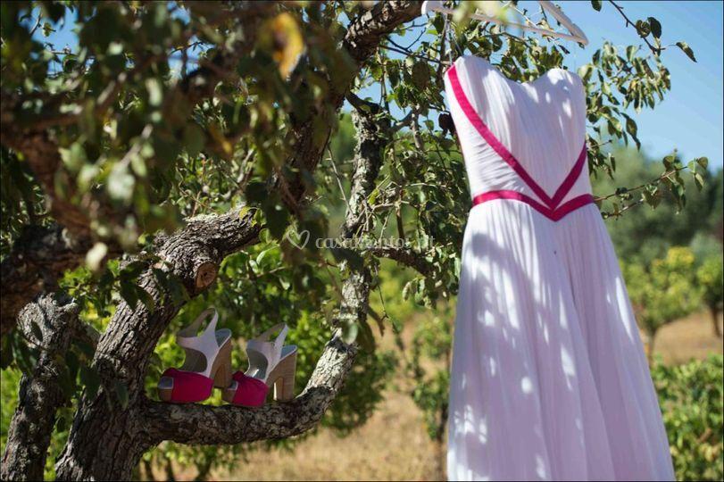 Vestidos de noiva e detalhes