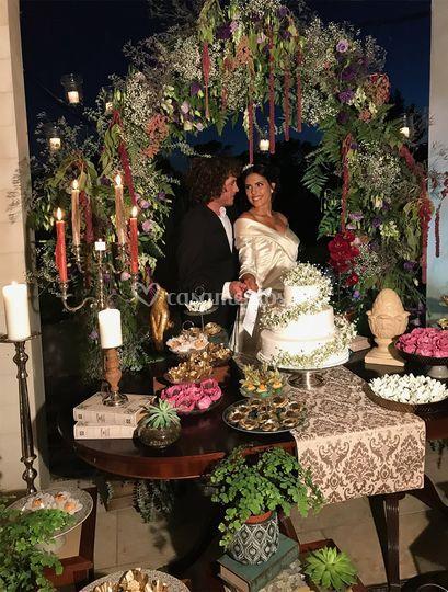 Wedding cake celebration