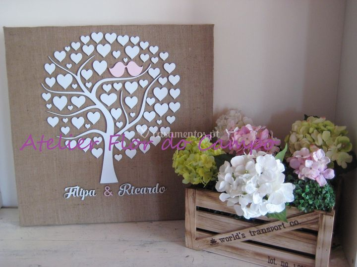 Árvore assinaturas Casamento