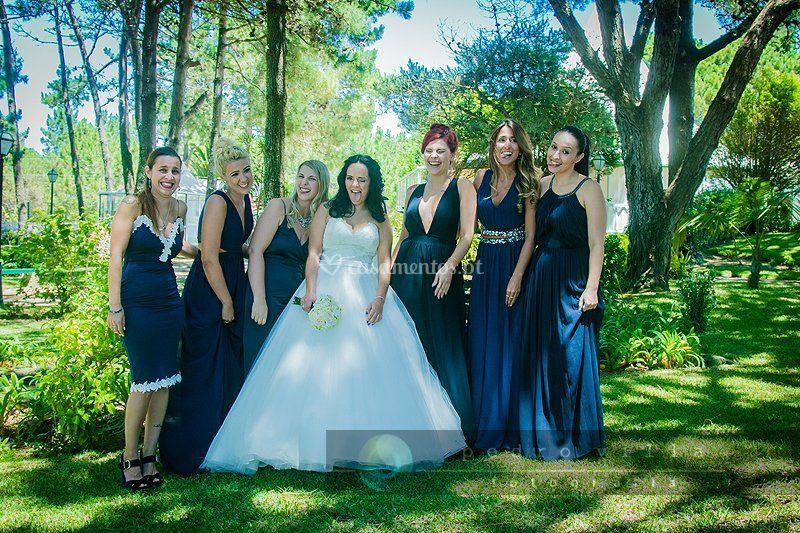 Noiva e damas de honor