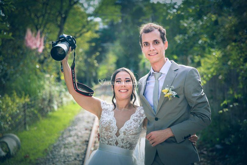 As fotos dos noivos