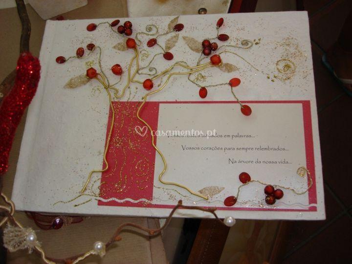 Livro de honra romântico