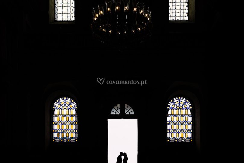 Saída igreja