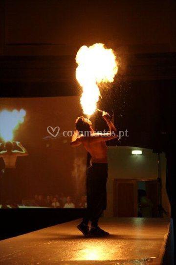 Performance de fogo