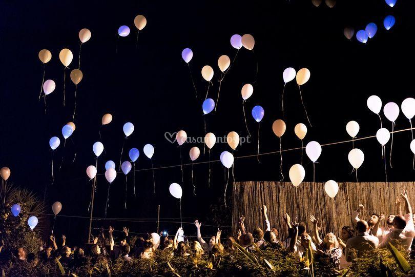 Lançamento dos balões