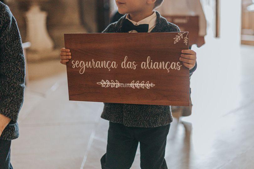 Placa de madeira personalizada