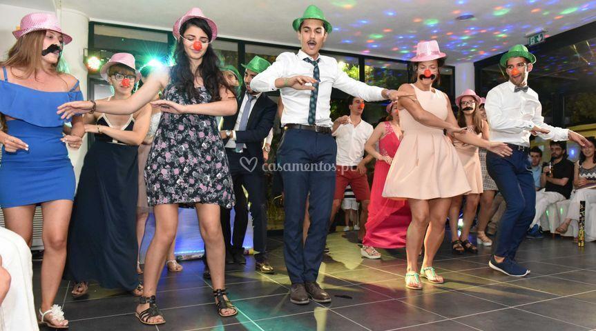 Hora do baile com acessórios